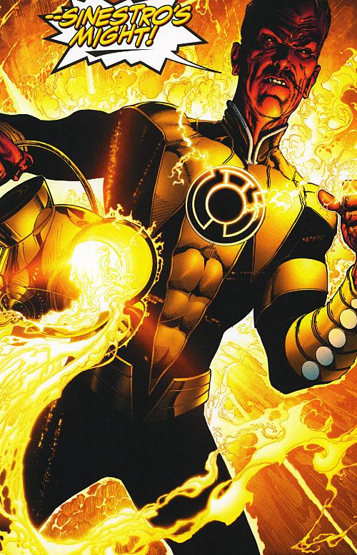 Yellow Power Ring (Green Lantern DC Comics) - Sinestro recharging