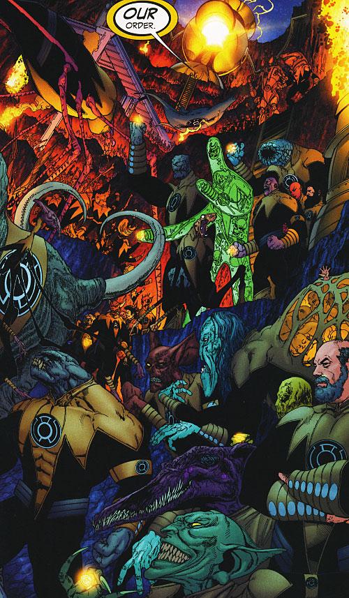 Yellow Power Ring (Green Lantern DC Comics) - assembled corps