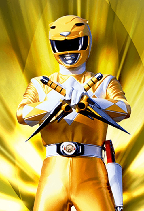 Yellow Ranger (Trini) of the Mighty Morphin Power Rangers paired daggers