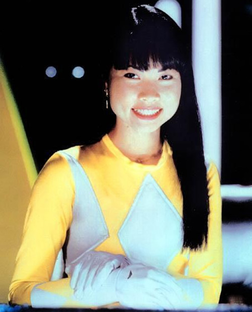 Yellow Ranger (Trini) of the Mighty Morphin Power Rangers big grin Thuy Trang