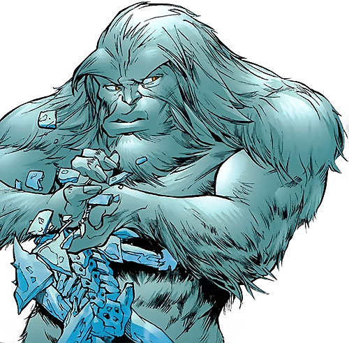 Yeti (Guardians of the Globe) (Image Comics) (Invincible universe) smashes an ice man