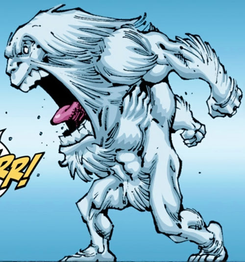 Yeti (Guardians of the Globe) (Image Comics) (Invincible universe) roaring