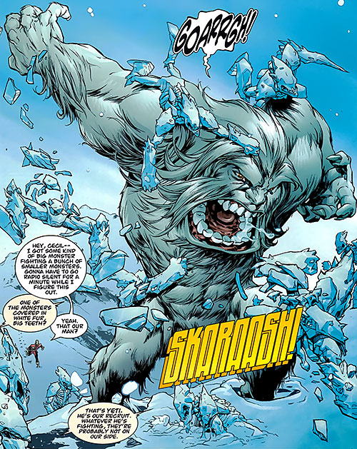 Yeti (Guardians of the Globe) (Image Comics) (Invincible universe) vs. ice men