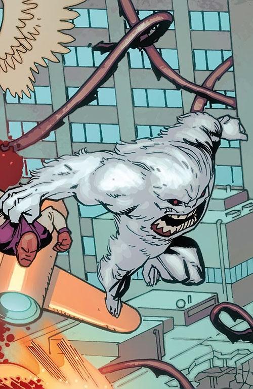Yeti (Guardians of the Globe) (Image Comics) (Invincible universe) leaps into battle