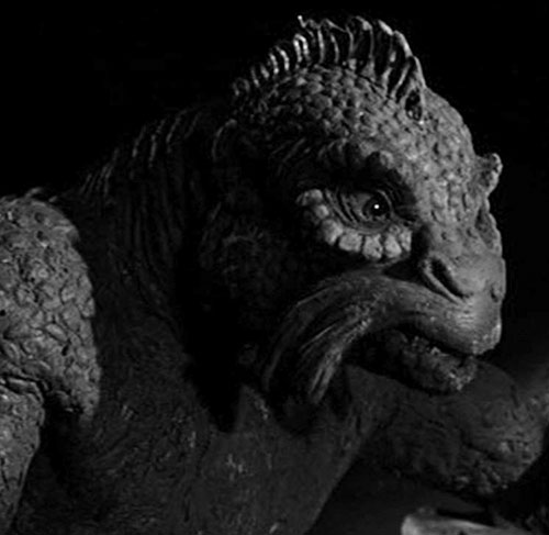 Ymir (20 million miles to Earth Harryhausen monster) face closeup side