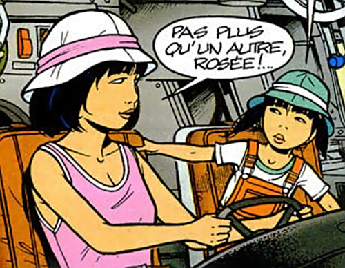 Yoko Tsuno piloting newt to Morning Dew