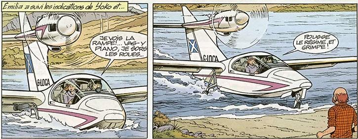 Yoko Tsuno's Seawind 3000 amphibious aircraft