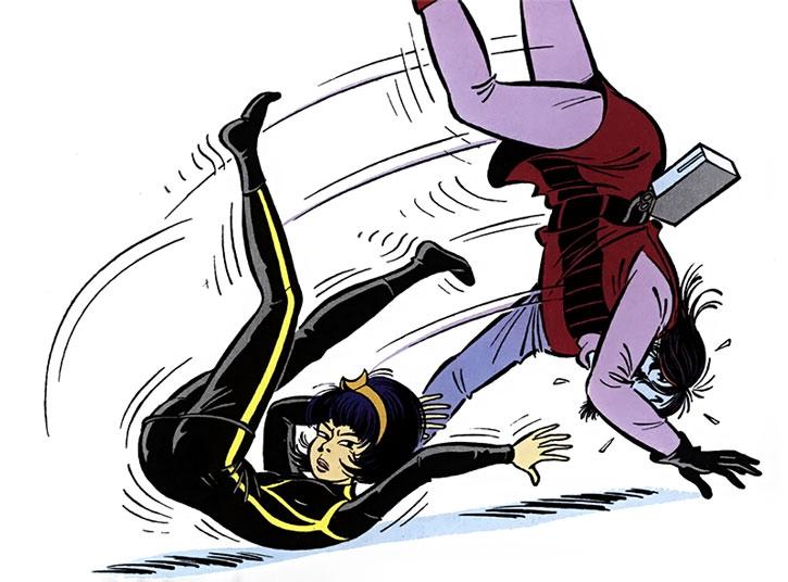 Yoko Tsuno does judo