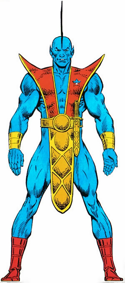 Yondu of the Guardians of the Galaxy (Marvel Comics) from the handbook master edition