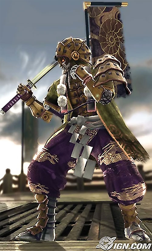 Yoshimitsu (Soul Calibur) ready for battle