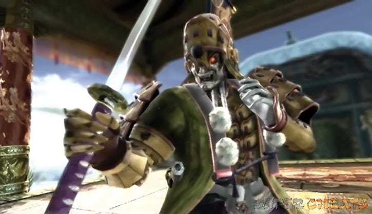 Yoshimitsu advances with his sword
