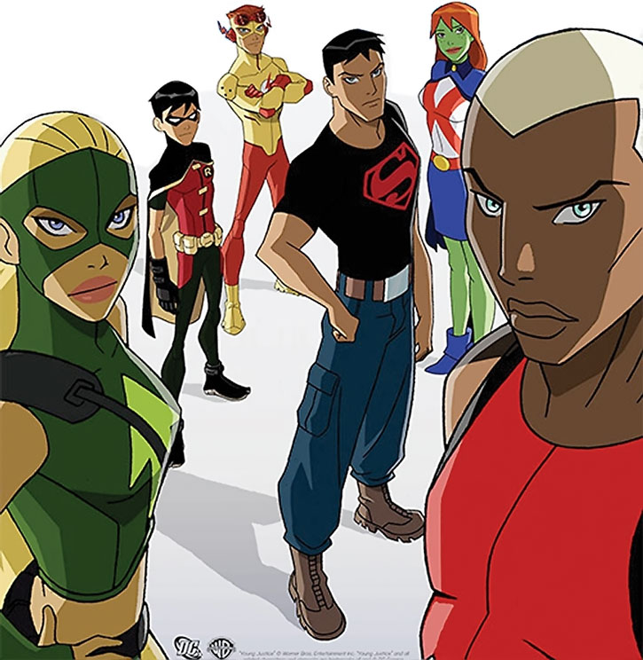 Young Justice animated series roster