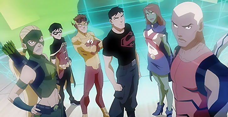 Young Justice animated series team