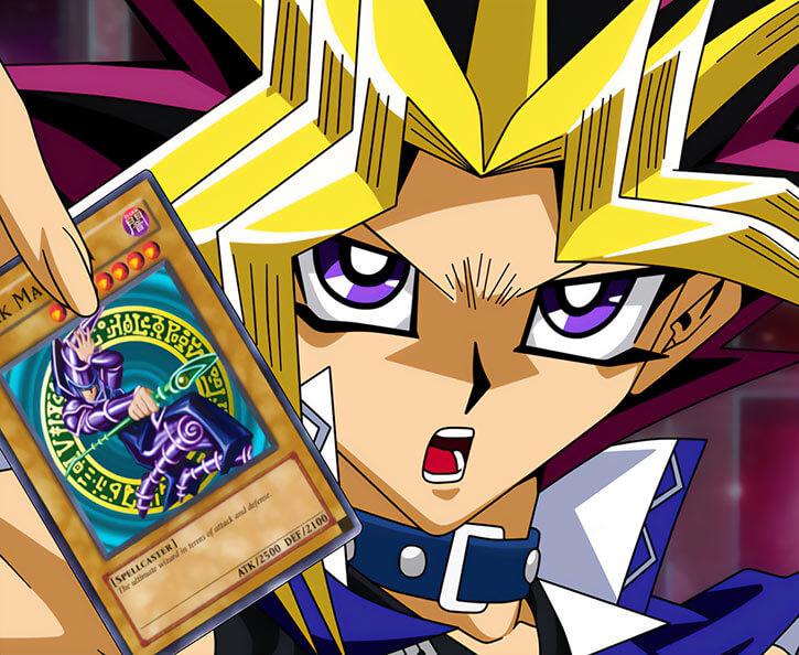 Yugi Oh face closeup card