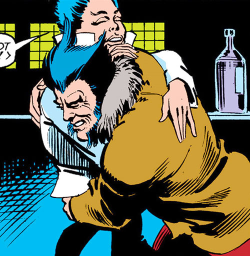 Yukio (Marvel Comics) and Wolverine carousing