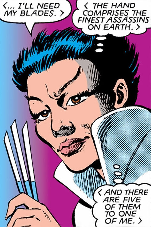 Yukio (Marvel Comics) (Wolverine ally) with her throwing blades