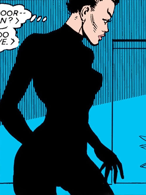 Yukio (Marvel Comics) (Wolverine ally) in a black bodysuit