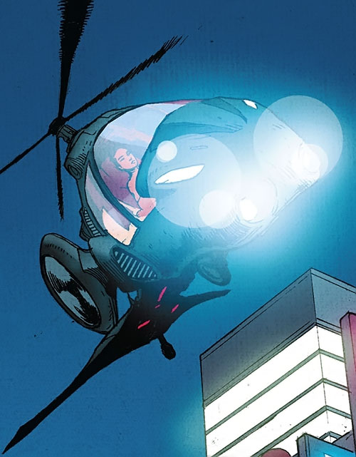 Yukio (Marvel Comics) (Wolverine ally) and her mini-helicopter