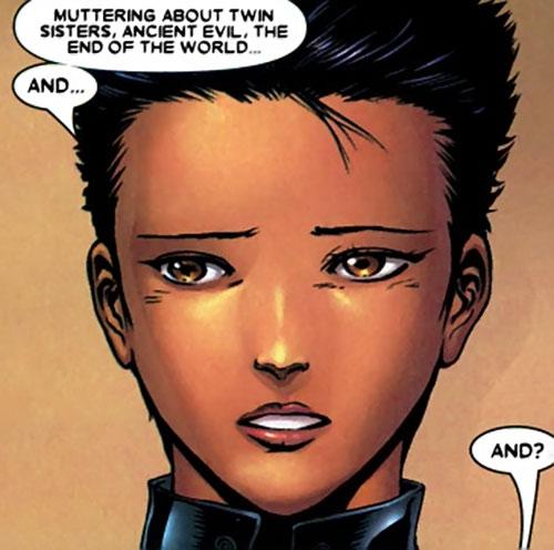 Yukio (Marvel Comics) (Wolverine ally) is sad