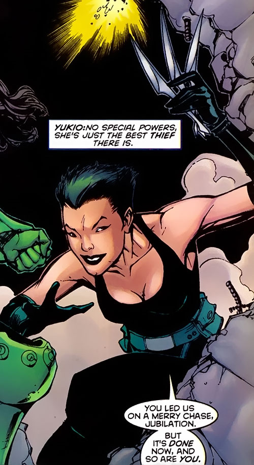 Yukio (Marvel Comics) (Wolverine ally) in dark green