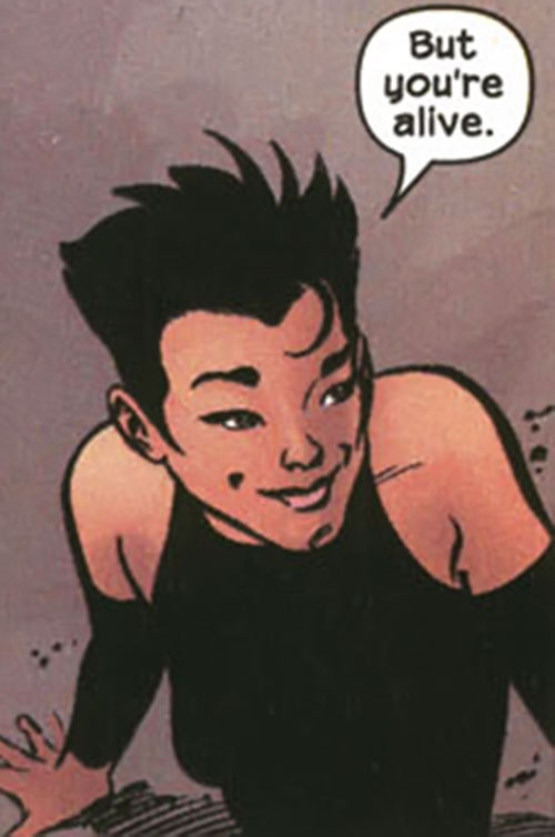 Yukio (Marvel Comics) (Wolverine ally) smiling