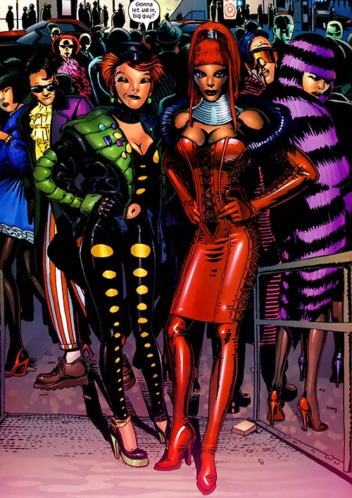 Yukio (Marvel Comics) (Wolverine ally) and Storm at a club