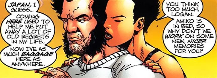 Yukio hugging Wolverine