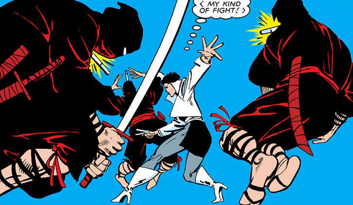 Yukio vs Hand ninja, by Frank Miller