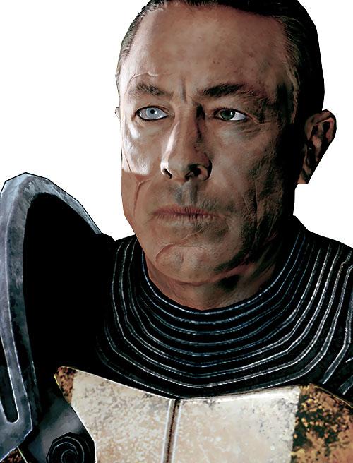 Zaeed Massani (Mass Effect 2) heterochromatic eyes