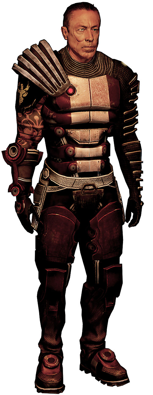 Zaeed Massani (Mass Effect 2) in red