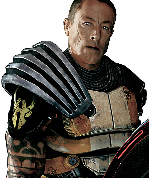 Zaeed Massani (Mass Effect 2) ratiocinating