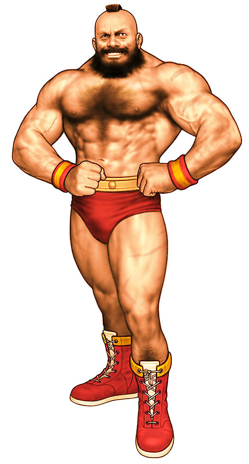 Zangief from Street Fighter video games posing