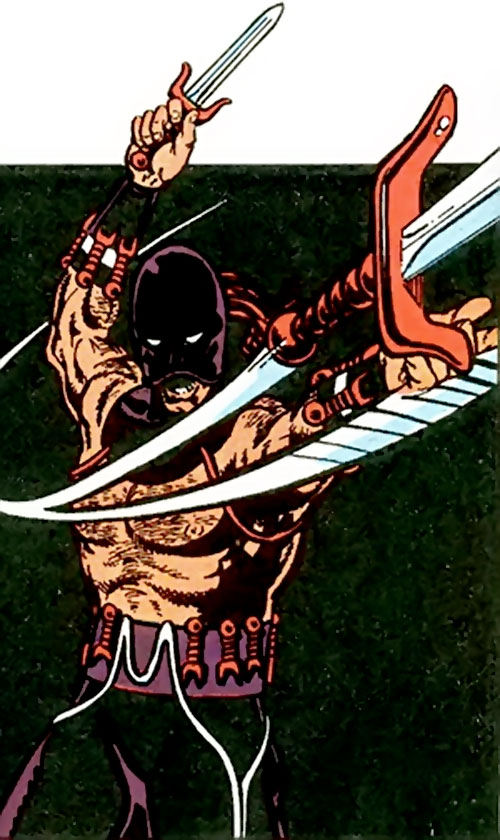 Zaran (Zhou Man She) (Marvel Comics) throwing a dagger