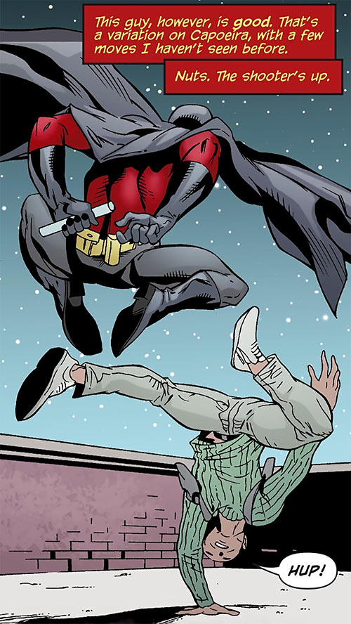 Zed (Z) (DC Comics) (Red Robin) of the League of Assassins capoeira fight