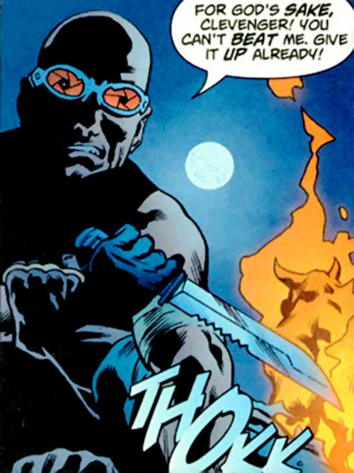 Zeiss (Batman enemy) (DC Comics) with a big knife