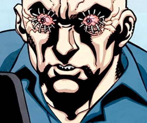 Zeiss (Batman enemy) (DC Comics) with stapled eyes