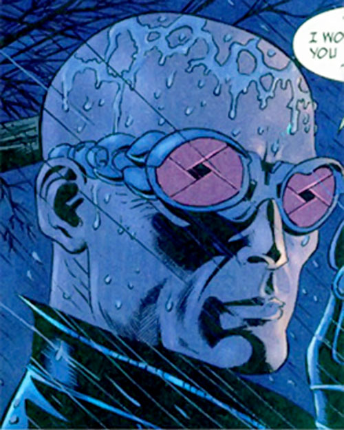 Zeiss (Batman enemy) (DC Comics) bald under the rain
