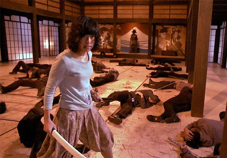 Zen (Jeeja Vismistananda) wins a big swordfight