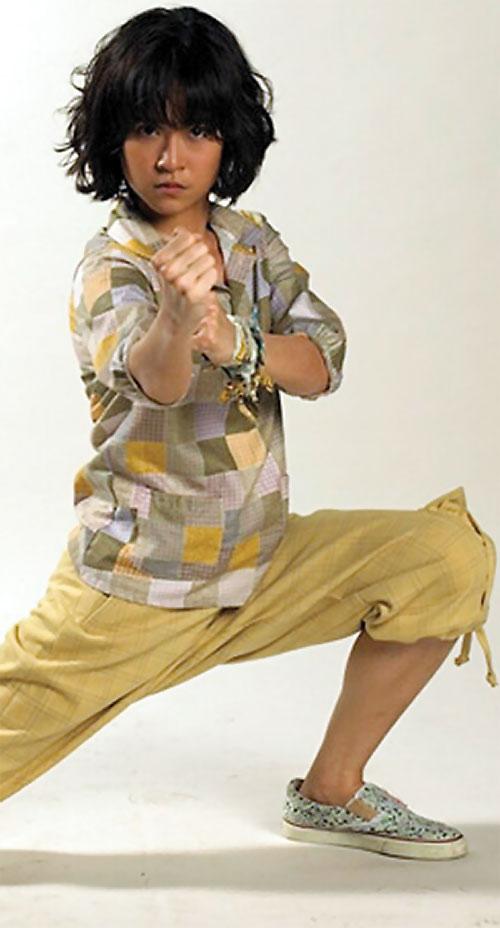 Zen (Jeeja Vismistananda in Chocolate) low fighting stance