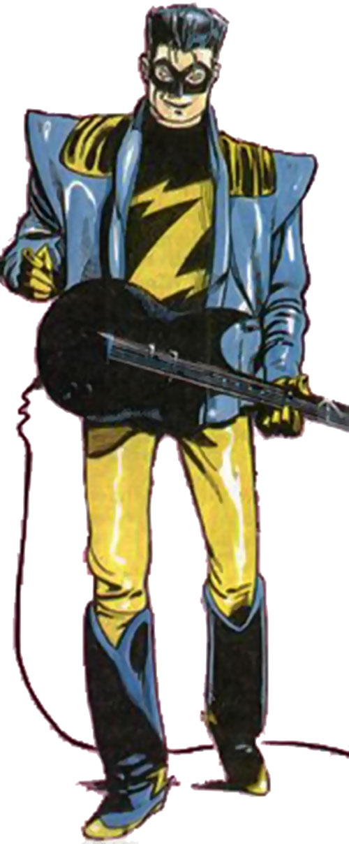 Zenith (Grant Morrison / 2000 AD) with his guitar