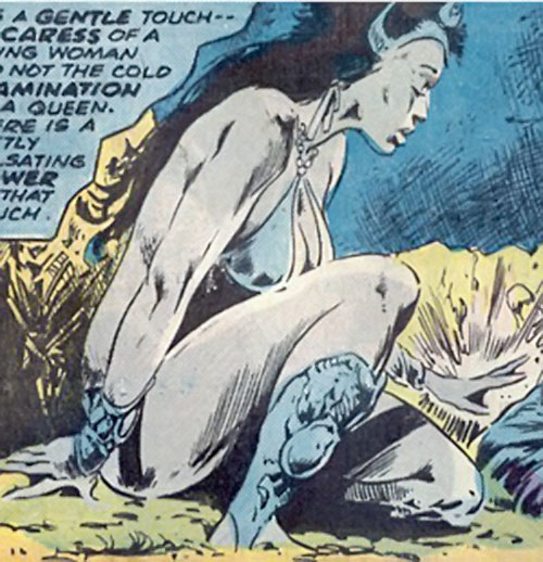 Zephyr of the Elementals (Living Mummy character) (Marvel Comics) crouching