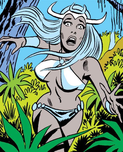Zephyr of the Elementals (Ms. Marvel Comics) with white hair
