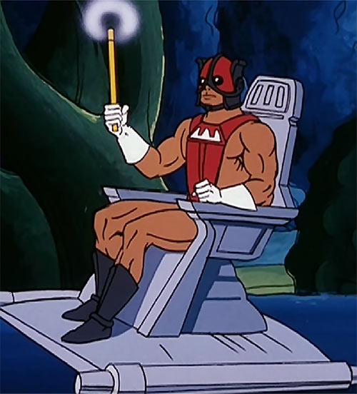 Zodac (He-Man and the Masters of the Universe cartoon) with chair and wand