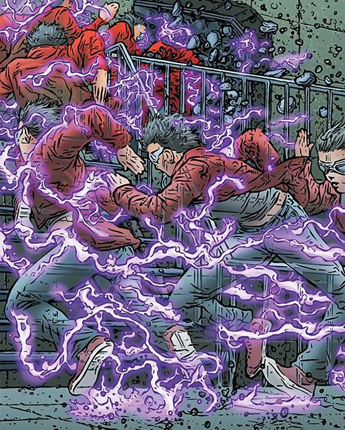 Zoe Jump (Black Summer Avatar Comics) moving at super-speed