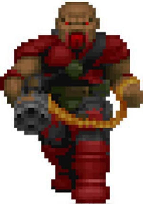 Zombie commando Doom video game sprite