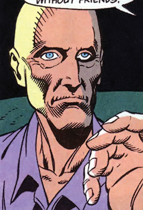 Zombie (Bane / Batman character) (DC Comics) face closeup in prison