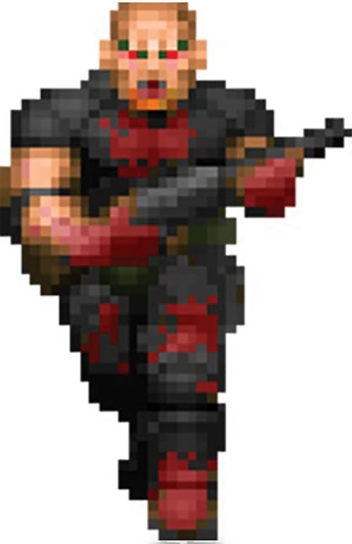 Zombie sergeant Doom video game sprite