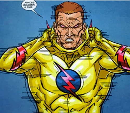 Zoom (Flash enemy) (DC Comics) taking off his hood