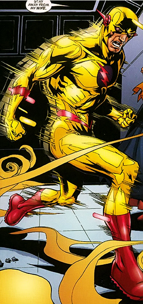 Zoom (Flash enemy) (DC Comics) vibrating in