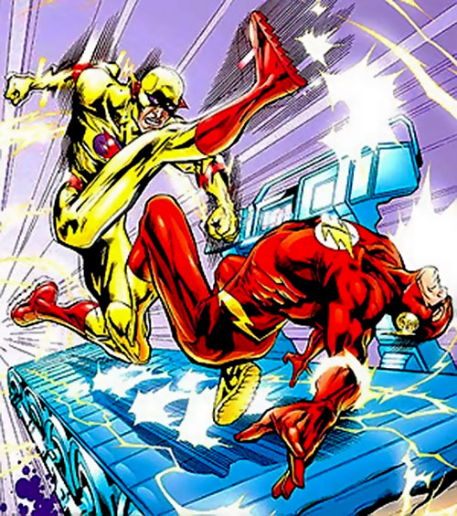Zoom vs. the Flash on a cosmic treadmill (DC Comics)